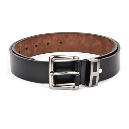 Black Leather SS Buckle Formal Belt