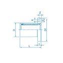 Square Flange Linear Bearing LMK60UU