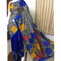 Block Printed Silk Saree