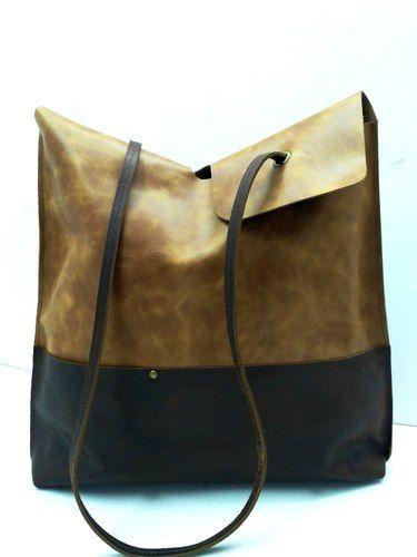 Handicraft Villa Brown Single Handle Leather Tote Bag e83e142222265