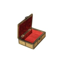Brass Sheet and Wooden Nutristar Antique Jewellery Box, Size: 6 Inch x 4 Inch