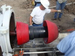 Pneumatic Pipe Line Pigging Services