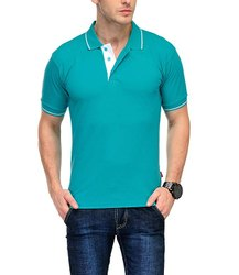 Plain Cotton Men's Tipped Polo T- Shirt