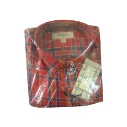 Checks Casual Wear Mens Cotton Check Shirt, Size: M to XXL