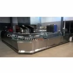SS Curved Snacks Counter