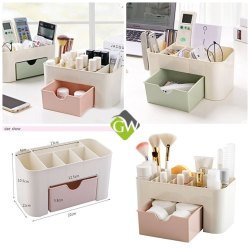 Plastic Cosmetic Storage Box Organizers
