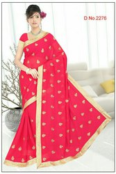 Casual Embroidery Saree