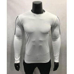 Full Sleeve White Sports T-Shirts