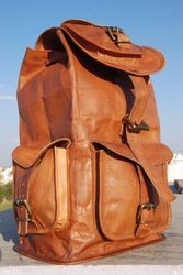 Vintage Leather Backpack, Leather Backpack, Travel Bag, Rucksack, Leather Bag