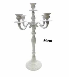 5 arm White Candle Stand Candelabra