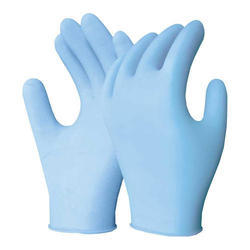 Blue Sterile Surgical Glove