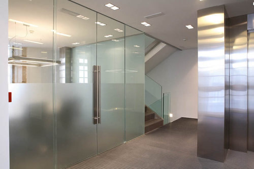 Swing Saint Gobain Frameless Glass Doors Steel