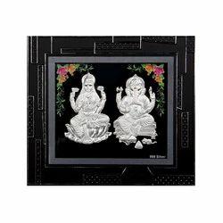 Black Rectangular Ganesh Laxmi Table Photo Frame