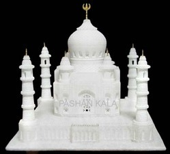 Indoor Square Marble Plain Taj Mahal, for Home