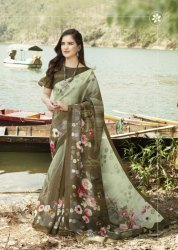 Siddhanth Weaves Digital Salso Cotton Digital Print Authorized Saree