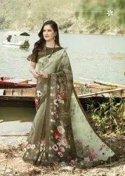 Siddhanth Weaves Digital Salso Cotton Digital Print Authorized Saree