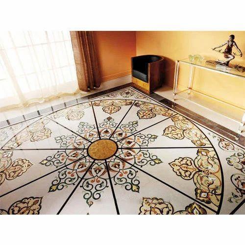 Marble Inlay Designer Flooring Service