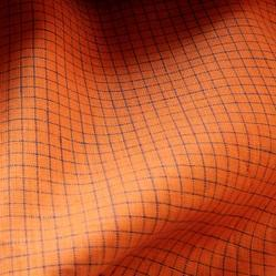Orange Striped Fabric