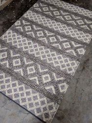 White and Grey Hand Woven Rug