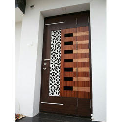 Wood Hinged Fancy Safety Doors