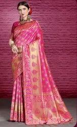 Banarasi Silk Waving Work Banarsi Silk Saree, With blouse piece, 6.3 M (with Blouse Pic)