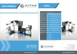 Avtar 3 hp Aluminium Foil Slitting Machine