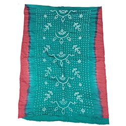 All Over Sea Green Fancy Design Cotton Bandhani Kurti