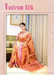 Ynf Vastram Organza Silk Saree Catalog Collection At Textile Mall