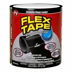 PVC Black Flex Tape, Thickness: 2 mm, Packaging Type: Roll