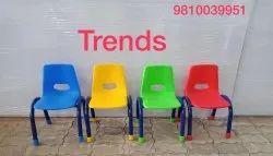 Kids School Furniture Chair Play Kindergarten Metal Frame Chair