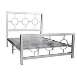 Polished Stainless Steel Bed, Single