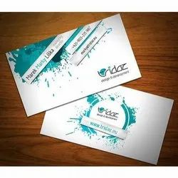 3D Laminated Single Side Visiting Cards