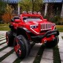 Single Seater Red Kids Standard Jeep Car, Two Motor