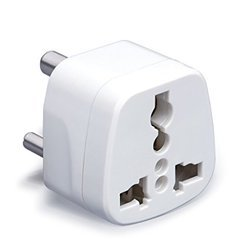 3 Pin Conversion Plug White