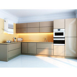 Aluminium kitchen cabinet White Aluminium Kitchen Cabinet Aluminum Fabrications Works In Kochi excel Aluminium Fabs Works In Aluminium Kitchen Cabinet At Rs 2200 square Feet Modern Kitchen