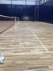 Indoor Badminton Teak Wood Flooring
