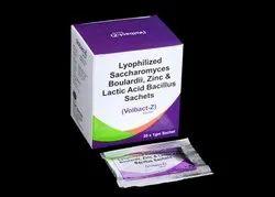 Lyophilized Saccharomyces Boulardii, Zinc & Lactic Acid Bacillus Sachets