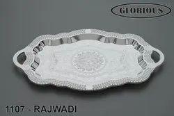 Rajwadi Silver Tray
