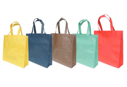 Yellow And Blue Plain Plastic Shopping Bags, Capacity: 1 And 2 Kg