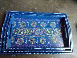 Wooden Hand Painted Tray