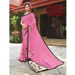 Rachna Georgette Embroidery Work Grazia Saree For Women 5