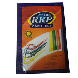 Plastic Printed Cable Ties Packaging Pouch, 1.50mm