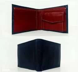 Blue Mens Leather Wallet, Card Slots: 5