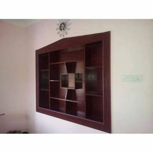 Wood Modern Designer Wooden Showcase For Living Room Rs 900 Square Feet Id 21810691191