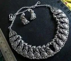 Choker German Silver Necklace
