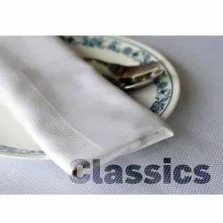 Vivara Square White Classics Table Napkin, Size: 20x20 Inch
