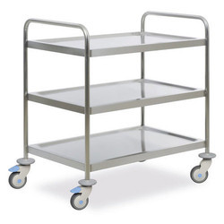 S.K. Stainless steel SS Trolley, Size: 4.5 X 1.5 X 2.5 Feet, for Home, Hotel etc