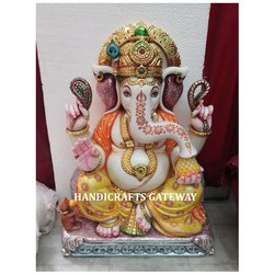 Decorative Marble Ganesha Statues