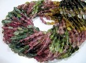 AAA Quality Multi Tourmaline Oval Plain Beads