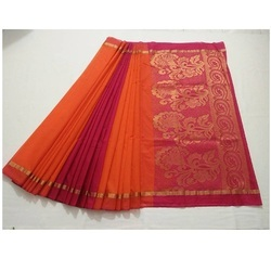 41db057efff491 Kora Cotton Saree at Best Price in India